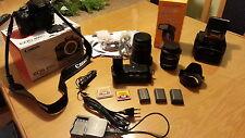 Canon EOS 400D 10.1 MP DSLR-Kamera - Schwarz (EF-S 18-55mm ) + (28 - 200 mm)