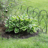 Sunnydaze 5 Piece Traditional Garden Landscape Border Fence Set 24-Inch - Black
