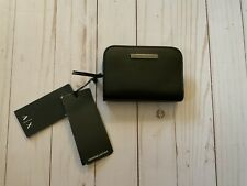Armani Exchange Black Leather Coin Purse or Wallet ~Armani Leather~ NWT
