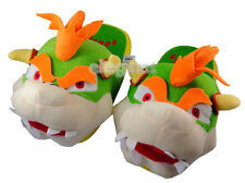 """Nintendo Super Mario Brothers Bros Bowser Party 11"""" Adult Plush Slipper 1 Pair"""
