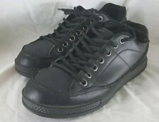 Skechers Work Black Leather Lace Up Slip Resistant Shoes Size 10