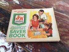 Vintage S&H Green Stamps Saver Book Filled With Stamps