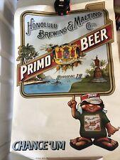 Vintage Honolulu Brewing & Malting Co. Primo Beer 1985 Poster