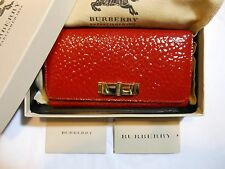 New Auth Burberry Heritage Penrose Leather Continental Wallet Clutch w/Box, Red