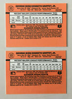 "1990 Donruss Ken Griffey ERROR Card #365. No ""period"" after ""Inc"" on card back!"