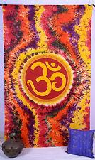 dian Om Hippie Mandala Psychédélique Double Tapisserie Tenture Mural Jeté de lit