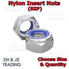 Metric Hexagonal Nylon Insert Nuts BZP Bright Zinc Plated Nyloc Hex Locking Nut
