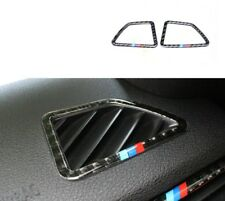 For BMW X5 X6 E70 E71 2008-13 2PCS Carbon Fiber Side Dashboard Outlet Trim Cover