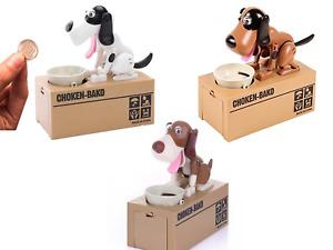 Elektronische Spardose Wackel Hund für Kinder oder Fun Geschenk zum Geburtstag