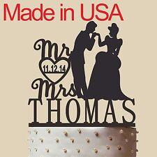 "Personalized Cinderella Cake Topper ,Disney Wedding Cake Topper, Acrylic.USA 5"""
