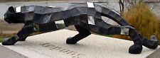 Panther Figur, Skulptur,Größe 80 x 22 x 14 cm stehend Farbe Antik- Steinoptik