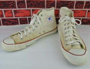 Vintage Converse Chuck Taylor All Star Made in U.S.A. Size 11 Ivory High Tops