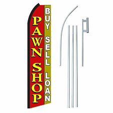 PAWN SHOP 15' COMPLETE SWOOPER FLAG STARTER KIT Bow Feather