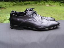 ECCO MEN'S Black Leather Oxford Dress Shoes Sz US 10-10.5 M EU 44 Made in INDIA
