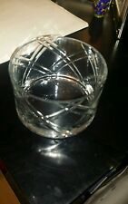 Vera Wang Clear Crystal Flower Vase new