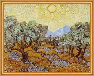 Olive Trees Vincent van Gogh Bäume Garten Oliven Hain Sonne Früchte B A2 03321