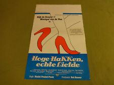 MOVIE POSTER / CINEMA AFFICHE - HOGE HAKKEN, ECHTE LIEFDE (MONIQUE VAN DE VEN)