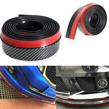 2.5m Car Vehicle Front Bumper Spoiler Lip Splitter Valance Chin Protector Kit