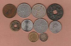 TEN COINS FROM HONG KONG & CHINA IN FINE OR BETTER CONDITION