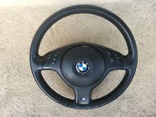 "01-06 BMW E46 E39 E53 3,5, X5 SERIES OEM STEERING WHEEL W/AIRBAG AND ""M"" LOGO"
