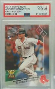 Andrew Benintendi 2017 Topps Now Off-Season Rookie rc PSA 10 Gem mint hot invest
