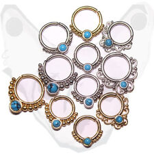 Brass Turquoise Body Piercing Jewellery