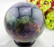 100MM Glow In The Dark Natural Purple Fluorite Magic Crystal Healing Ball