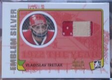 09-10 ITG 1972 The Year In Hockey Game-Used EMBLEM SILVER Vladislav Tretiak 1/1