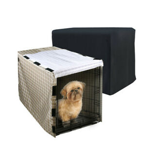 """New Folding Cover Pet Kennel Cover Dog Crate Cover for 24""""-42"""" Wire Dog Crate"""