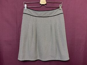 Anna Thomas Skirt Women ~ Size 8 ~ Great Cond Houndstooth Design Business Casual