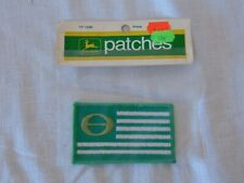 1972 JOHN DEERE PATCHES ECOLOGY FLAG GREEN & WHITE TY1296 PATCH ORIGINAL PACKAGE