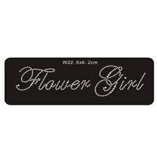 Flower Girl' Crystal Rhinestone Wedding iron on hot fix sticker-clear colour