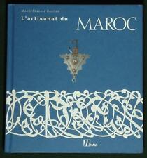 BOOK Moroccan Folk Art traditional craft jewelry carpet pottery mosaic inlay