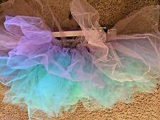 Ballet Tutu Skirt Pink Purple Blue Rainbow Dance Dress Up Costume Sz Womens S M