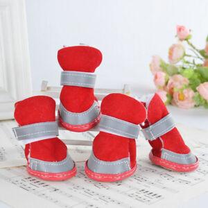 Pet Shoes Dog Snow Boots Non-slip Thick Shoes Wear-resistant Lamb Woolen Inside