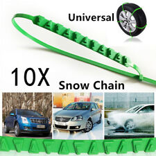10PCS Reusable Nylon Car Tire Snow Chains Emergency Winter Wheel Ice Chain Valid