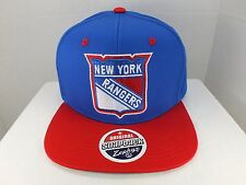 New York Rangers NHL Vintage Logo Basic Blue/Red Snapback Hat Cap New By Zephyr