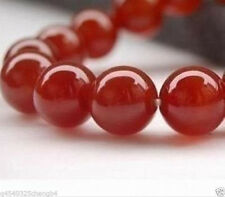AAA+++4mm Natural Red Ruby Gemstone Round Carnelian Beads 15''