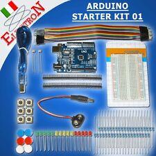 ARDUINO STARTER KIT 01 con UNO R3 CH340 BREADBOARD 400 LED RESISTENZE LDR 16U2