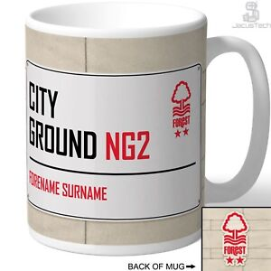 Nottingham Forest Mug, Cup. Personalised. Football Birthday Gift for Forest Fan