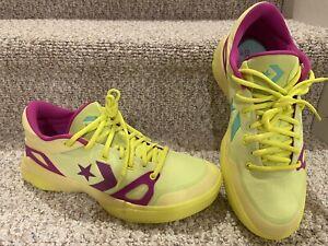 RARE Converse G4 Ox Men's 10 Basketball Running Training Gym Neon Yellow Shoes