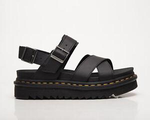 Dr. Martens Voss II Black Hydro Leather Sandals Women's Black Lifestyle Shoes