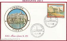 ITALIA FDC ROMA LUXOR 371 PROPAGANDA TURISTICA VIESTE FG 1988 TORINO Z531