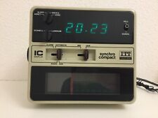 Radio Reveil Schaub-Lorenz  - Radio reveil ITT Synchron compact vintage 1970s