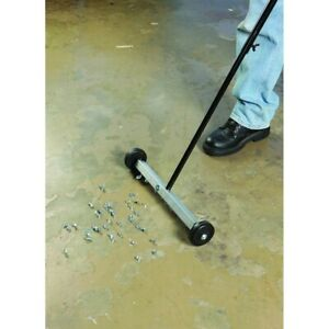 New Rolling Magnetic Floor Sweeper 17 Inch For Mini Small Metal Items Retrieval