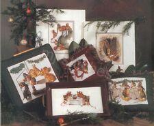 HEIRLOOM BEATRIX POTTER CHRISTMAS CROSS STITCH BOOK, GREEN APPLE #612, OOP