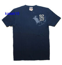 Abercrombie & Fitch Men's Muscle Navy Logo T-Shirt Tee XL