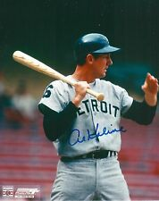 AL KALINE signed 8x10 photo DETROIT TIGERS WITH COA