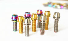 6Pcs Titanium Bicycle Stem M5 x18mm Allen Hex Bolt Tapered Head with Washers