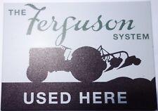 "JUMBO FRIDGE MAGNET 2 1/2"" X 3 1/2"" FERGUSON TRACTOR SYSTEM F.U.M. TOOLS FUM"